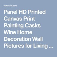 Panel HD Printed Canvas Print Painting Casks Wine Home Decoration Wall Pictures for Living Room Wall Art on Canvas