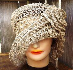 e26650b5c46  Crochet  Hat Women Hat OMBRETTA  Straw Hat by strawberrycouture  cloche   natural