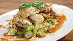 Seeteufel Saltimbocca mit Spitzkohlsalat