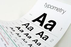 "The Typometry poster from Brainstorm Overload plays on the classic eye exam chart (typometry / optometry, get it!?) but instead of testing your eyeballs, this clever poster tests your sight with the ""eyes of a typographer."""