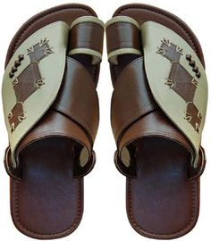 Sick pair of traditional Arab sandals. Look at the workmanship!