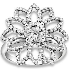 1.27 ctw 14k WG Natural H-I Color, SI Clarity, Accent Diamonds Engagement Ring