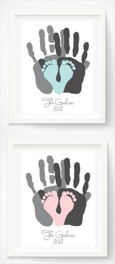 Family Hand & Foot Prints by craftylady51