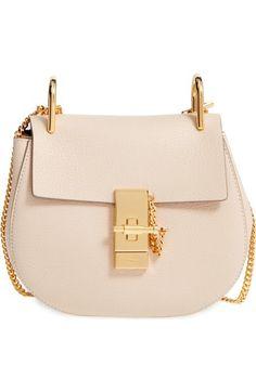 c38ae565e1 Chloé  Mini Drew  Leather Shoulder Bag Leather Saddle Bags