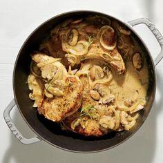 Creamy Pork Chops and Mushrooms | CookingLight.com