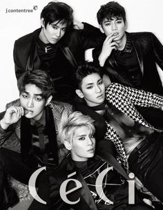 SHINee come together for the cover of 'CeCi' + cover story film   allkpop.com