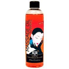 SHIATSU ACEITE DE MASAJE EFECTO CALOR 250 ML Aceite de masaje de alta calidad para una piel suave y radiante, con un ligero y confortable efecto calor estimulante. Selectas fragancias miman los sentidos y despiertan sensaciones eróticas.