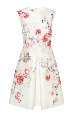 Pleated Floral-Print Satin-Twill Dress by Giambattista Valli - Moda Operandi, $1,290 on sale, originally $3,685. LOVE, LOVE, LOVE