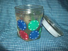 Poker Chip Gel Candle
