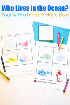 With all our Ocean Activities and our excitement for reading, I made a printable mini book for my kids to color and read. The book uses repetition for beginning readers and the cutepictures offer clues to make learning to read easy and fun! Come download your free copy. The kids can also use crayons or …