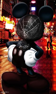 Mickey Mouse [as Venom] (As Marvel by Unknown) #Disney