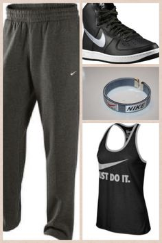 Maybe Nike running shoes instead. But I like the idea of a racerback with sweats