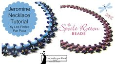 Jeromine Necklace with shaped beads ~ Seed Bead Tutorials