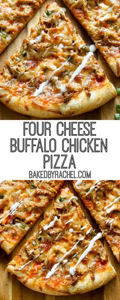 Feb 2020 - Thin crust four cheese spicy buffalo chicken pizza recipe from A fun and super flavorful addition to any pizza night or game day menu! Chicken Pizza Recipes, Healthy Pizza Recipes, Cooking Recipes, Bar Pizza Recipe, Homemade Pizza Recipe, Top Recipes, Thin Crust Pizza, Pizza Pizza, Pizza Food