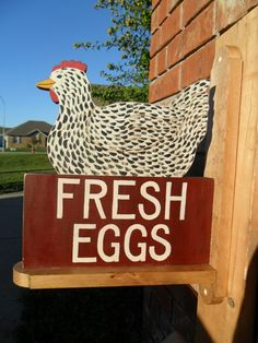 Chicken Coop Sign Speckled Hen Fresh Eggs by mulberrylanefolkart