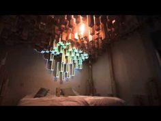 Installation Decorates Hotel Room With An Interactive Wooden Skyline