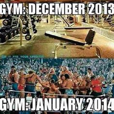 Right! All these New Year resolutions to get fit...and then the gym gets empty in February lol