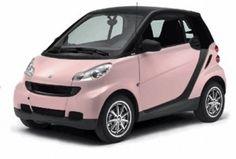 Pink Smart Car -WANT!!!