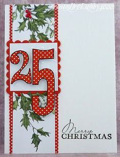 Debbie4000, A Scrapjourney:  Penny Black Holly & Mistletoe; Woodware stamp (25)