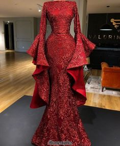 Most beautiful dresses - Burgundy evening dresses 2020 long sleeve sparkle sequin appliqué mermaid elegant evening gown vestido de Longo – Most beautiful dresses Evening Dress Long, Evening Dresses With Sleeves, Long Sleeve Evening Gowns, Elegant Evening Gowns, Sequin Evening Gowns, Designer Evening Gowns, Mermaid Evening Dresses, Evening Outfits, Mermaid Gown