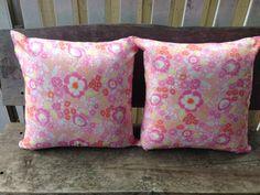 Dena Designs Taza Lisa Pink floral 45cm cushion by SourPussDesigns