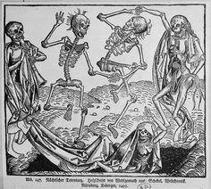 Danse macabre, 1493. Paris, bibliothèque des Arts décoratifs #walkingdead #medieval #history