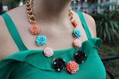 Classy Rose Garden DIY Necklace | AllFreeJewelryMaking.com