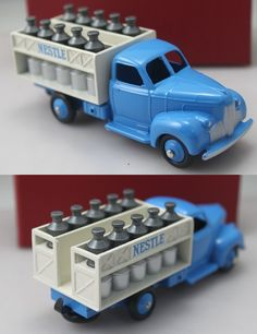 1:43 Scale Model of FORD NESTLE Milk Truck.  Want to see more detail pictures? Click on the image to see more.