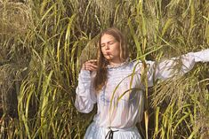 German model Anna Ewers is captured by Ryan McGinley for the Spring/Summer 2016 issue of Stern Mode. Styled by Julia von Boehm, Anna is outfitted in designs by Gucci, Versace and more as she traverses gravel, sand and water. Anna Ewers, Women Smoking, Girl Smoking, Editorial Photography, Fashion Photography, Makeup Photography, 90s Inspired Outfits, White Louis Vuitton, Spring Summer 2016