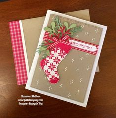 Stampin Up Hang Your Stocking Christmas Card - Rosanne Mulhern