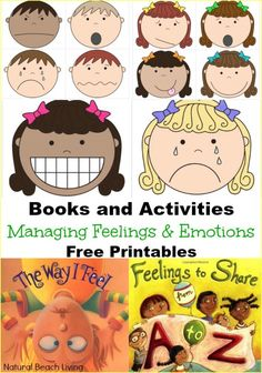 These are wonderful Books and Activities on Managing feelings and Emotions, Today I Feel Free Printables that are perfect for all children and work great for children with Special Needs and Autism.