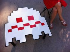 Pac-Man ghost coffee table  http://www.coolgizmotoys.com/2011/07/pac-man-ghost-coffee-table.html