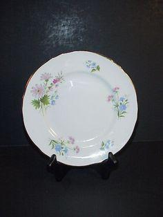 Details about Staffordshire England Wild Flowers Salad Plate Fine Bone China & Black Night Hohenberg Bavaria German Dinner Plate Hand Painted ...