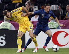 Ukraine - France (0:2)  A. Jarmolenko & F. Ribery