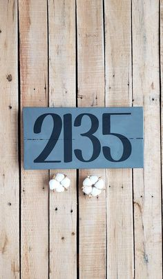 Address Plaque, House Number Sign, Chalk Paint, Rustic Wood Sign, Urban Farmhouse, Pallet Sign, Farmhouse, Rustic, Number Art, Personalized Address Signs, Address Plaque, Pallet Art, Pallet Signs, Number Art, Urban Farmhouse, Rustic Wood Signs, House Numbers, Wood Pallets