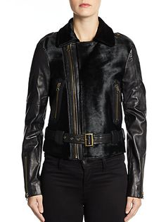 Rebecca Minkoff - Wolf Leather Jacket - Saks.com