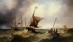 Henry Redmore - Fishing vessels heading out to sea-9e2308c469fbb3ac81f18c791fa477f4.jpg (956×550)