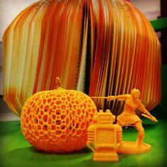 """Something we liked from Instagram! Having more fun with our #3Dprinter! October is a month for orange! #douglaslibraryofhebron #pumpkin #3Dprinting #robot #cleverclare #bookpumpkin """"Support for The Douglas Library of Hebron is provided by the Connecticut State Library (CSL) and the Institute for Museum and Library Services (IMLS) an independent federal agency whose mission is to inspire libraries and museums to advance innovation lifelong learning and cultural and civic engagement.""""…"""