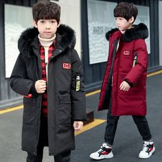 Find More Down & Parkas Information about 2018 Children's thicker down parkas boys winter Jackets coat hooded fur collar kids coat outfits bigboy outerwear clothes 6 14Y,High Quality Down & Parkas from KASTURIA Store on Aliexpress.com Boys Winter Jackets, Kids Coats, Down Parka, Fur Collars, Canada Goose Jackets, Hoods, Store, Children, Stuff To Buy