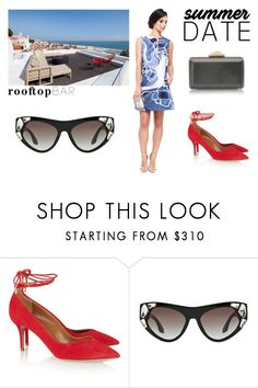 """""""Summer Date: Rooftop Bar"""" by chicbychoiceworld on Polyvore featuring Aquazzura, KOTUR, summerdate and rooftopbar"""