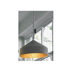 In-es.artdesign Matt Cyrcus Cemento 1 Light Bowl Pendant