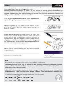 Ficha 17 / Esténcil para letras - Caos Tattoo | Estudio de tatuajes profesional | Tatuadores en Santiago
