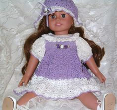 All American Crochet Doll Patterns Free American Girl Outfits, American Doll Clothes, Ag Doll Clothes, Doll Clothes Patterns, Doll Patterns, American Dolls, Crochet Doll Dress, Crochet Doll Clothes, Crochet Doll Pattern