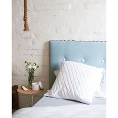 Acapulco Waves the perfect beachy  bedhead. Features tan piping, luxe Belgian Linen in the best blue going round....Ohhh and mexsii exclusive border artwork & resin buttons! It's our pick for warm nights check it out online now!