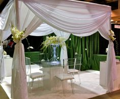 Tres Chic Weddings & Events: Bridal Show Booth Design Chic Wedding, Wedding Events, Wedding Ideas, Weddings, Bridal Boutique, A Boutique, Bridal Show Booths, Unusual Flowers, Booth Design