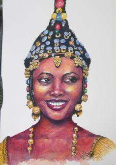 """""""Songhai Bride"""", Mali by Margit"""