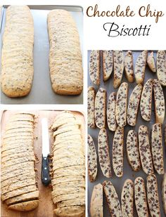 Chocolate Chip Biscotti | Miss in the Kitchen #FBCookieSwap