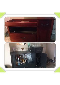 From baby change table to liquor cabinet!