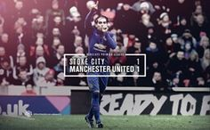 Match poster: Stoke City 1 - 1 Manchester United, 1 January 2015. Designed by @Manchester United.