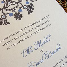 Custom Modern Color Wedding Invitation Set  by PrEttYLiLNoTeS, $3.00